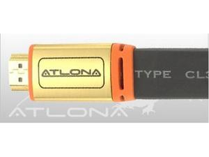 Atlona ATF14031BL-15 15M ( 50FT ) ATLONA FLAT HDMI CABLE ( BLACK COLOR ). HDMI 1.3 RATED
