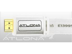 Atlona ATF14031W-2 2M ( 6FT ) ATLONA FLAT HDMI CABLE ( WHITE COLOR ). HDMI 1.3 RATED