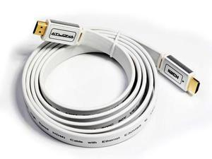 Atlona ATF14031W-5 5M ( 16FT ) ATLONA FLAT HDMI CABLE ( WHITE COLOR ). HDMI 1.3 RATED
