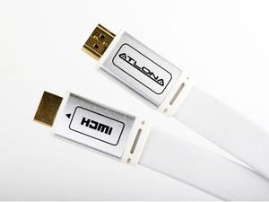 Atlona ATF14032W-1 3 FOOT ATLONA FLAT HDMI CABLE - WHITE (HDMI 1.4)
