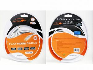 Atlona ATF14032W-2 6 FOOT ATLONA FLAT HDMI CABLE - WHITE (HDMI 1.4)