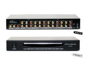 Atlona AT-AV18 1x8 Composite Video and Audio Distribution Amplifier
