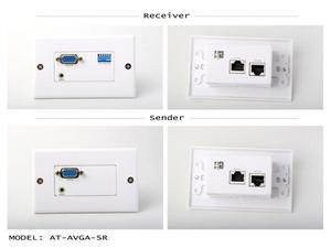 Atlona AT-AVGA-SR Powerless VGA with Stereo Audio Extenders over Cat5/6 up to 125ft (SENDER/RECEIVER INCLUDED)