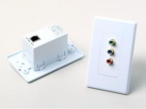 Atlona AT-COMP-SR COMPONENT VIDEO WALL PLATE EXTENSION KIT OVER CAT5 UP TO 1000FT (SENDER/RECEIVER INCLUDED)