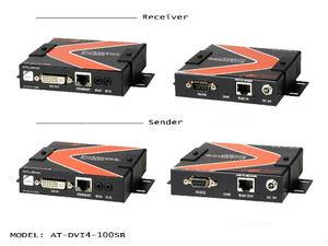 Atlona AT-DVI4-100SR 350ft DVI EXTENDER KIT with Bi-DIRECTIONAL IR, RS232 and ETHERNET PASS-THROUGH OVER SINGLE CAT5/6/7