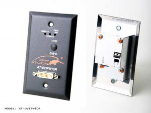 Atlona AT-DVIFW10R Wall Plate Style DVI Receiver over single Multi Mode Fiber with HDCP and EDID Support