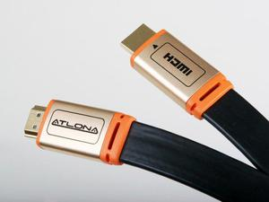Atlona ATF14032BL-10 30ft Flat High Speed 1080p 4K HDMI CL3 Certified Cable for UHDTV XBOX PS4