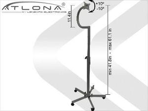 Atlona AT-LCDSD-1B ATLONA LCD FLOOR STAND UP TO 27inch ON WHEELS ( BLACK )