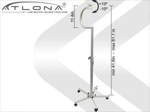 Atlona AT-LCDSD-1S ATLONA LCD FLOOR STAND UP TO 27inch ON WHEELS ( SILVER )