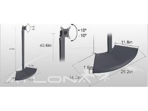 Atlona AT-LCDSD-2B ATLONA LCD FLOOR STAND UP TO 27'' ( BLACK )