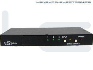 Atlona AT-HDMI31 3x1 HDMI SWITCH (W/ REMOTE CONTROL)
