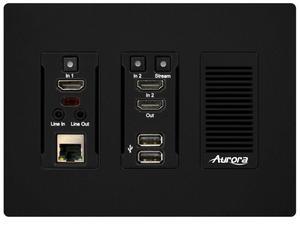 Aurora Multimedia IPX-TC3-WP-C-B 4K HDMI 10Gbps AV-over-IP Transceiver Wall Plate Copper Version (Black)