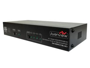 Avenview SW-HDM2-T4K-4X1 4x1 4K HDMI2.0/HDCP2.2 Switcher with HDR10 IR/RS232/Telnet and Web GUI