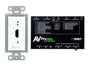 AVPro Edge AC-CXWP-HDMO-100KIT 4K HDMI/HDBaseT Decora Wall Plate Extender (Transmitter/Receiver) Kit up to 100m/330ft