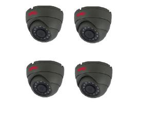 Bolide BTG1209IROD/AHQ-4 Set of 4 2.0 MP HD Analog Metal Dome Cameras with 3.6mm Lens Kit