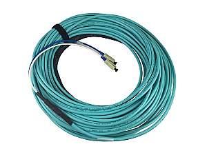 Broadata F4-P-OM3-XX-XX-100 4-Strand Jacket Fiber Cable/Plenum/OM3/50um/Multimode/100ft