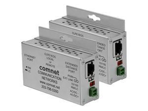Comnet CLKFE1EOC Copperkit Small Size Ethernet Extender (Transmitter/Receiver) Kit over COAX with Power Supplies