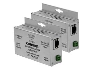Comnet CLKFE1EOU Copperkit Small Size Ethernet Extender (Transmitter/Receiver) Kit over UTP with Power Supplies