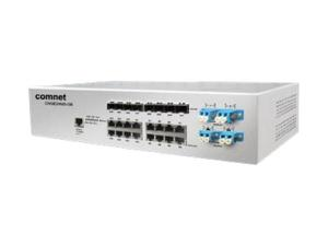 Comnet CNGE24MSS2-OB Industrial 24-port All Gigabit Managed Ethernet Switch with 16 TX ports and 8 SFP Ports plus Optical Bypass