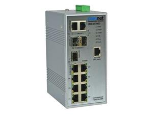 Comnet CNGE3FE7MS3 Hardened 3 Port 1000Mbps with 7 Port 100Mbps Managed Switch/Includes Power Supply