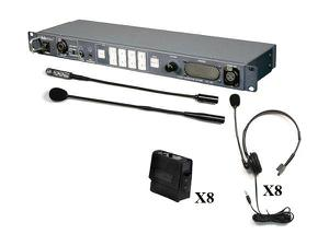 Datavideo ITC-100KF900 8-User Wired Intercom System w 8 Beltpacks and 8 Headsets