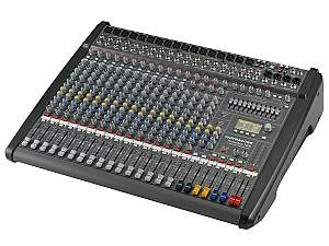 Electro-Voice DCPM16003UNIV Power Mixer/12 Mic/Line w 4 Mic/Stereo Line Channels/6xAUX/Dual 24 bit Stereo Effects/USB Audio Interface/Power Amp 2x 1000W