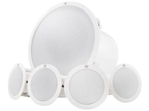 Electro-Voice EVIDC44 Ceiling-mount Background Music Speaker System Package (White)