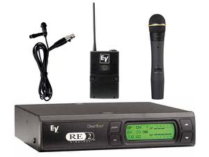 Electro-Voice RE2COMBOCG RE2 Series Wireless Combo Uni-directional Lapel/Dynamic Cardioid Handheld System G-Band (614-642 MHz)