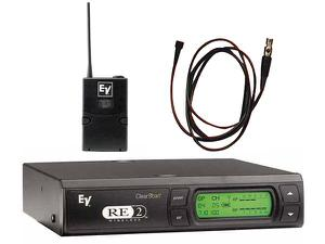 Electro-Voice RE2L10CG RE2 Series Wireless Omni-directional Lapel Microphone System G-Band (614-642 MHz)