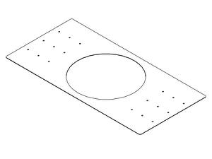 Electro-Voice RRPC82B Rough-In Mounting Plate for New Construction for Use with the EVID PC8.2 (Package of 4)