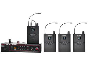 Galaxy Audio AS-950-4 Wireless In-Ear Personal Monitor Band Pack (Transmitter/4x Receiver)/50Hz-15kHz
