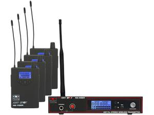 Galaxy Audio AS-1106-4 1100 Series Wireless Personal Monitor Band Pack with EB6