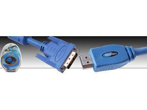 Gefen CAB-DVI2HDMI-LCKB-15MM DVI to HDMI Locking cable 15 foot Black