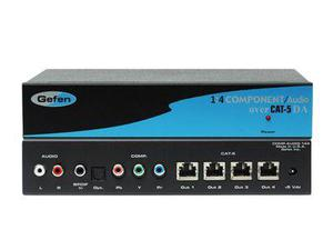 Gefen EXT-COMPAUD-CAT5-144-3 1x4 Component Audio CAT5 Distribution Amplifier
