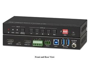 KanexPro SW-2X14KUSBC 2x1 USB-C/HDMI Auto Switcher with Video Conferencing Support