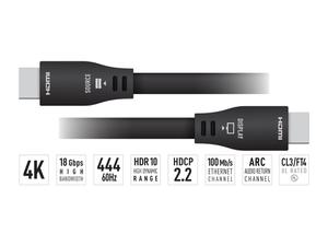 Key Digital KD-Pro30GX 30ft 4K/UHD ARC/24AWG HDMI Cable with High-Speed Ethernet