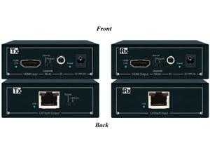 Key Digital KD-CATHD250Lite-b HDBaseT/HDMI Lite via CAT5e/6 Extender (Transmitter/Receiver) Kit