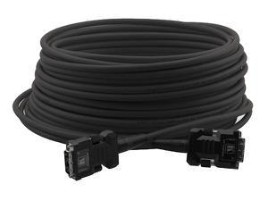Kramer C-FODM/FODM-66-BLACK Fiber Optic/DVI Hybrid Cable with Converters 66ft/Black