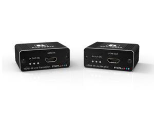 Kramer PT-871/2XR-KIT 4K HDR HDMI Compact PoC Extender (Transmitter/Receiver) Kit over Long-Reach DGKat 2.0