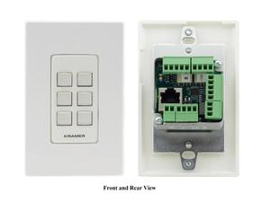 Kramer RC-206/US-D(W/B) 6-Button US-D-Size Control Keypad with White/Black Decora Design Frame Sets