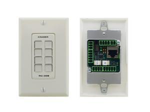 Kramer RC-308/US-D(W/B) US-D Size 8-Button Control Keypad with White/Black 1-Gang DECORA Design Frame