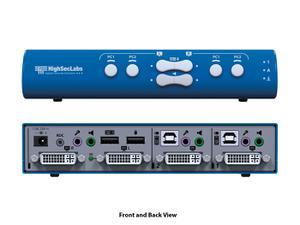 Kramer SX22D-N HighSecLabs 2x2 4K30 UHD DVI-I Mini-Matrix KVM Switch