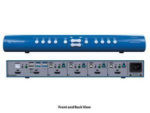 Kramer SX42HU-N HighSecLabs 2x4 4K30 UHD HDMI Mini-Matrix KVM Switch with sUSB