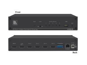 Kramer VCO-5UHD 5-Port 4K60 4x2x0 HDMI Video Content Overlay Solution