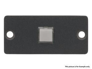 Kramer RC-10TB(B) Wall Plate Insert - 1 Button Contact Closure Switch/Black