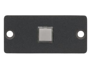 Kramer RC-10TB(G) Wall Plate Insert - 1 Button Contact Closure Switch/Gray