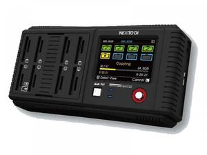 Nexto DI NCB-20-SD-VM Multiple SD Memory Card Reader and Copier with V-Mount battery bracket