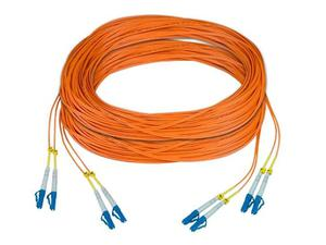 NTI fiber-2d-lclc-50-30m Two Duplex LC to LC 50-micron Fiber Cable - 30 meters