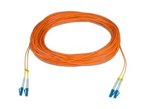 NTI FIBER-D-LCLC-50-100M Duplex LC Multimode Fiber Optic Cable/50-Micron/100 m
