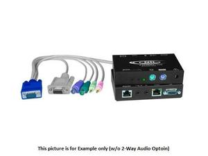NTI st-c5kvmrs-1000s VGA PS/2 KVM Extender (Transmitter/Receiver) Kit with RS232 via CATx to 1000ft
